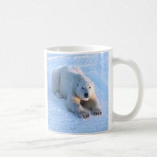 Polar Bear Blue Basic White Mug