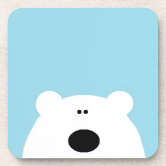 Polar Bear Blue Coaster