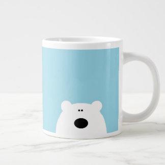 Polar Bear Blue Large Coffee Mug