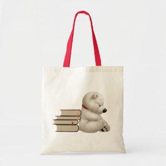 polar bear budget tote bag