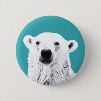 Polar Bear button badge