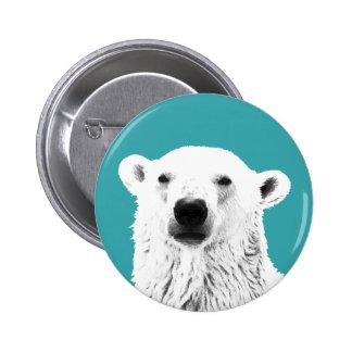Polar Bear button badge