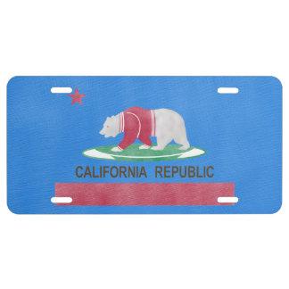 Polar Bear California Republic License Plate