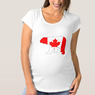 "Polar bear ""Canada"" Maternity T-Shirt"