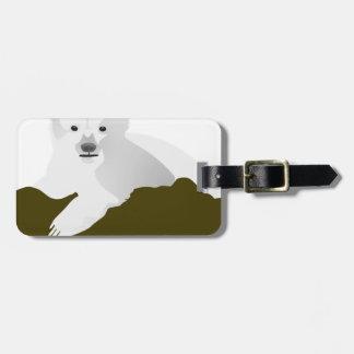 Polar Bear Cartoon Luggage Tag