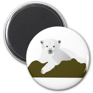 Polar Bear Cartoon Magnet