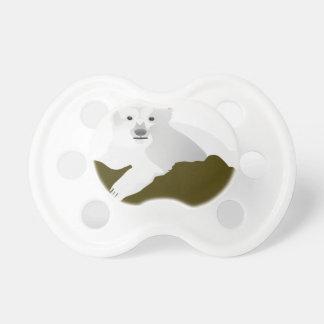 Polar Bear Cartoon Pacifier