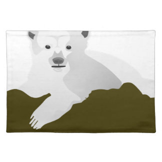 Polar Bear Cartoon Placemat