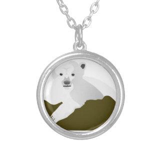 Polar Bear Cartoon Silver Plated Necklace