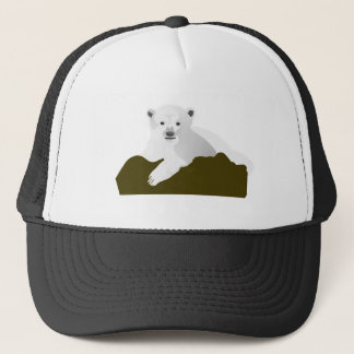 Polar Bear Cartoon Trucker Hat
