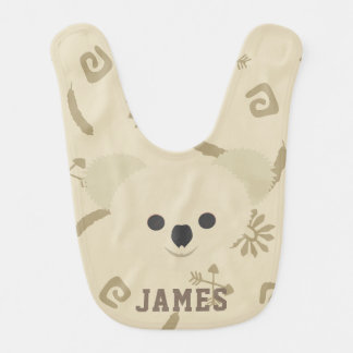 Polar Bear Chocolate Brown Bib