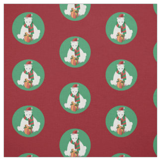 Polar Bear Christmas Fabric