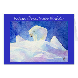 Polar Bear Christmas greeting card