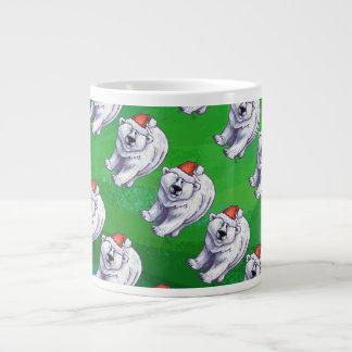 Polar Bear Christmas On Green Jumbo Mug