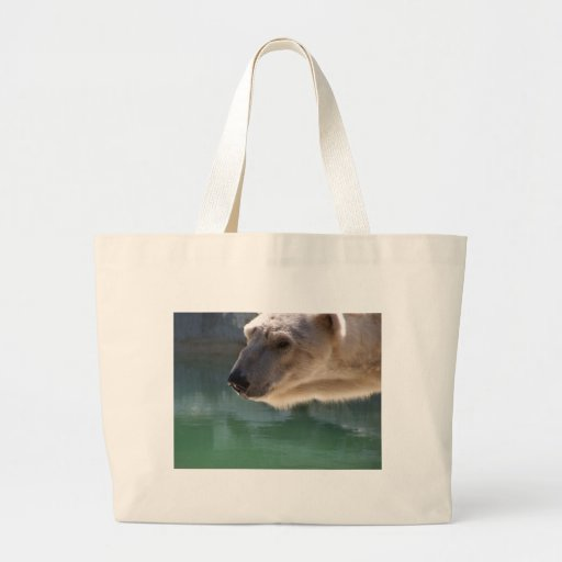 Polar Bear Close Up Portrait Bag