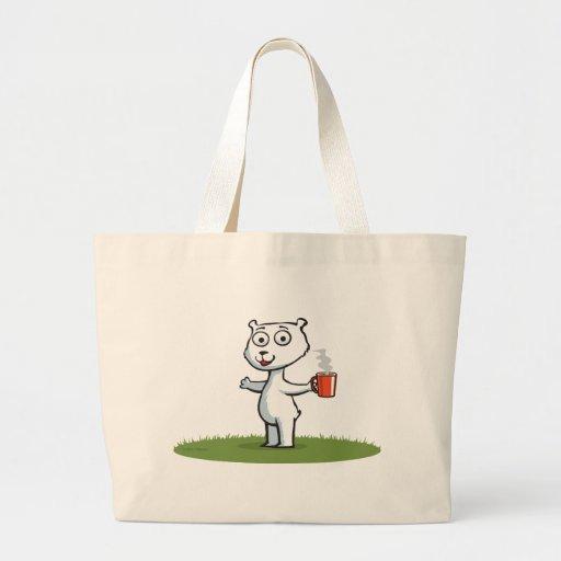 Polar Bear Coffee Canvas Bags