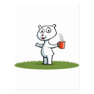 Polar Bear Coffee Postcard