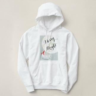 Polar Bear Conehead Merry & Bright Hoodie