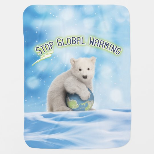 Polar Bear Cub Baby Blanket