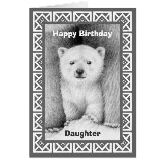 Polar Bear Cub Birthday Card