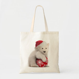 Polar Bear Cub Christmas Bag