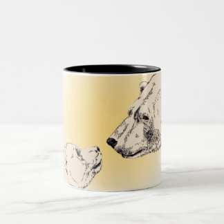 Polar Bear & Cub Coffee Mug Wildlife Art Cups