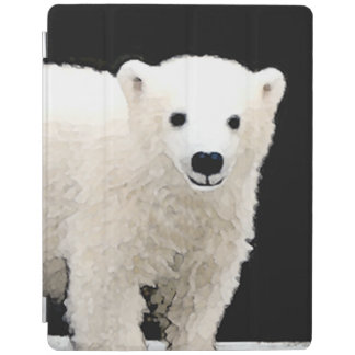 Polar Bear Cub Painting - Original Wildlife Art iPad Cover
