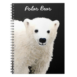 Polar Bear Cub Painting - Original Wildlife Art Notebook