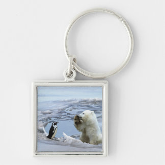 Polar Bear Cub & Penguin Best Friends Keychain