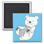 Polar Bear Cub Square Magnet