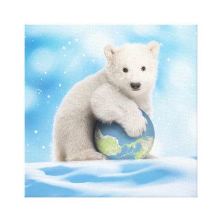 Polar Bear Cub World Canvas