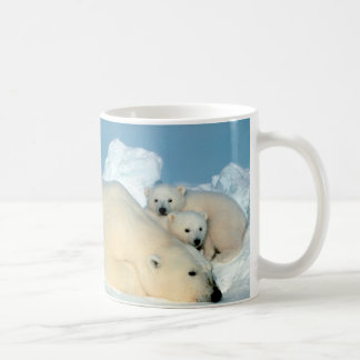 Polar Bear & Cubs by Steve Amstrup Classic White Coffee Mug