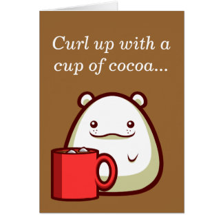 "Polar Bear ""Curl up with a cup of cocoa..."" Card"