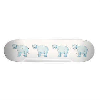 Polar Bear. Custom Skate Board