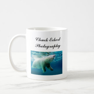 Polar Bear Cut-out, Polar Bear Surfacing, Chuck... Coffee Mug