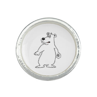 Polar bear design rings