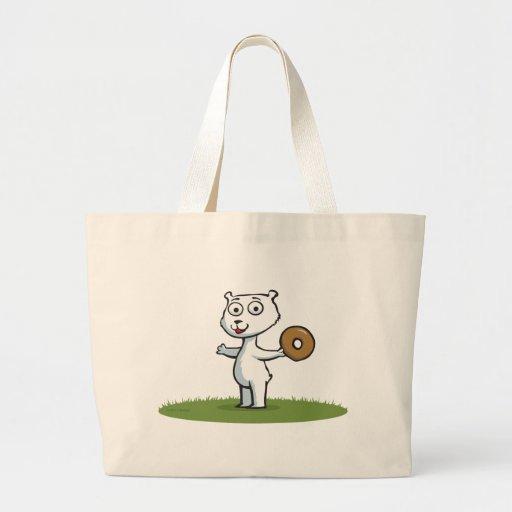 Polar Bear Donut Tote Bag