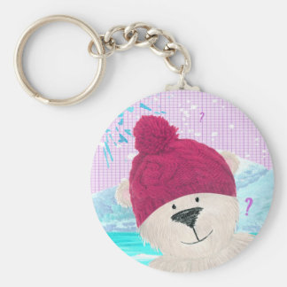 Polar bear Dude Keychain