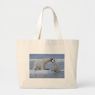 Polar Bear Duel Jumbo Tote Bag