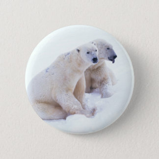 Polar Bear Duo 2 Inch Round Button