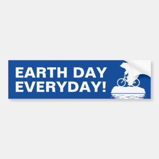 "Polar Bear ""EARTH DAY EVERYDAY"" Bumper Sticker"