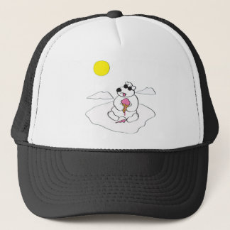Polar Bear Eating Ice Cream Cone Trucker Hat