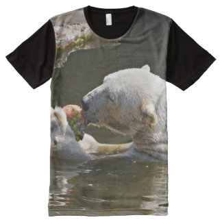 Polar Bear Eating In Water All-Over-Print T-Shirt