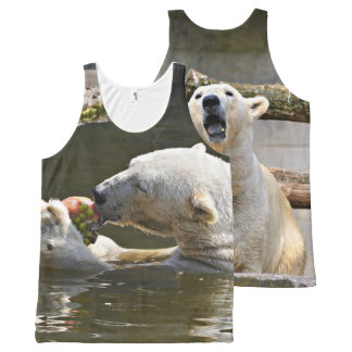 Polar Bear Eating In Water All-Over-Print Tank Top