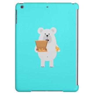 Polar Bear eating Pizza Q1Q Case For iPad Air