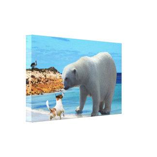 Polar Bear Encounter, Canvas Print