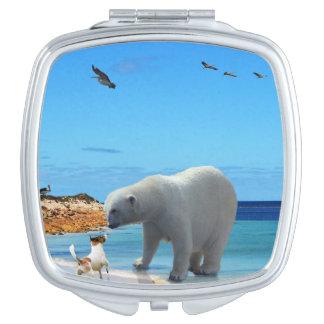 Polar Bear Encounter, Makeup Mirror