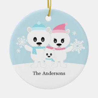 Polar Bear Family Ornaments