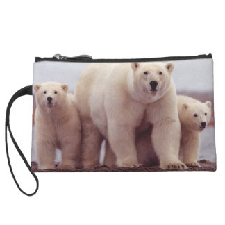 Polar Bear Family Wristlet Purse