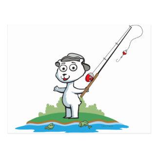 Polar Bear Fishing Postcard